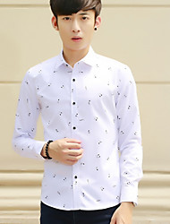 Zunyu Men'S Slim Fashion Trends Shirt Printing Youth Music