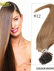 remy Menschenhaarverlängerungen halten Spitze 18 bis 28 Zoll i Spitze Haarverlängerungen 1 g / s prebonded Keratin Haarverlängerung 100g