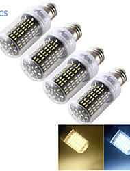 12W E14 / E26/E27 LED a pannocchia T 138 SMD 4014 1200 lm Bianco caldo / Luce fredda Decorativo AC 220-240 / AC 110-130 V 4 pezzi