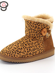 MG 2015 New Arrive Women's Boots Autumn and Winter Boots Warm Flat Heel Boots Snow Twinface Sheepskin Shoes