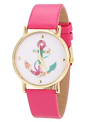 Women's Watch Anchor Pattern Golden Case Multi-Colored Dial Cool Watches Unique Watches Fashion Watch