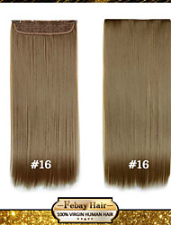 alta resistencia a la temperatura de 24 pulgadas rubio dorado (# 16) larga recta 5 extensión peluca clip de 16 colores disponibles