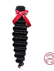 EVET Peruvian Deep Wave 6A Hair Weave 1pc 100g/3.5 oz Natural Color Hair Weft Peruvian Wave Human Hair Extensions