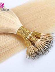 50 unidades / lote 18-20 '' mongol extensões de cabelo virgem cabelo humano extensões de cabelo tiradas de casal anel nano nano talão