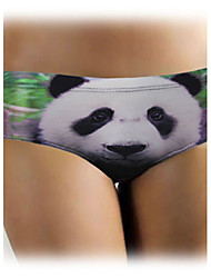Women's Panda and Bamboo Print Full Back Briefs