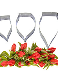 FOUR-C Fondant and Sugarcraft Calla Petal Flower Stainless Steel Cutters for Cake Decorating Tools Baking Kitchen Cutter