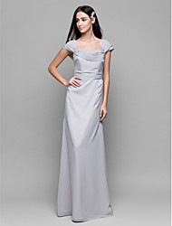 Lanting Bride Ankle-length Chiffon Bridesmaid Dress Sheath / Column Square with