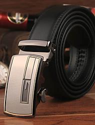 Men's Automatic Belt Buckle Leather Floor