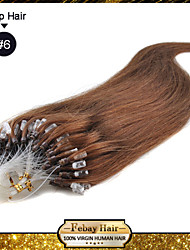 """20"""" Light Brown(#6) 100S Micro Loop Remy Human Hair Extensions many colors in stock fast shipping good service"""