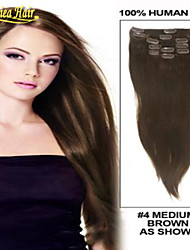 Clip In On Hair Extensions Clip In Extension Straight Human Hair Weave Hair Extensions Any colors