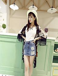 Women's Lace Blouse , Chiffon Long Sleeve