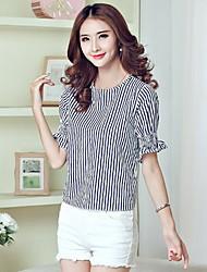 Women's Striped T-shirt Short Sleeve