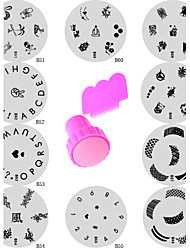 Nail Art Stamping Stamper Kit With Image Plate & Metal Scraping Scraper Tool (11Pcs/Set)
