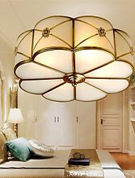 venta caliente de cobre pintado shape pétalo ceilling lightmc014-4q