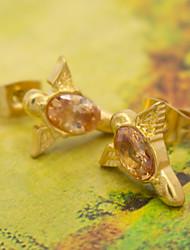 Damen Ohrring Edelstahl Strass Stud Earrings