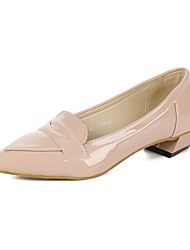 Women's Shoes Faux Leather Chunky Heel Heels/Pointed Toe Pumps/Heels Wedding/Office & Career/Casual Pink/Purple/Silver