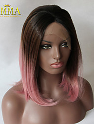 New Arrival Bob Straight Ombre Black/Grey/Pink Heat Resistant Hair Synthetic Lace Front wigs/Arica wig Ombre Wig