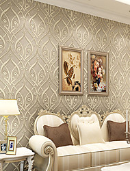 Contemporary Wallpaper Art Deco 3D European Roll Teng Flower Wallpaper Wall Covering Non-woven Fabric Wall Art