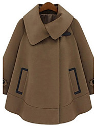 Yana Women'S  Fat Mm Loose Bat Woolen Cape Coat Woolen Coat Child