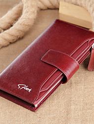 Multifunctional Fashion Cowhide Leather Wallets/Business Card Holder/Coin Purse/ Zipper Wallet