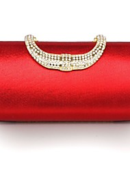 Handbag Faux Leather/Metal Evening Handbags/Clutches With Lace/Metal
