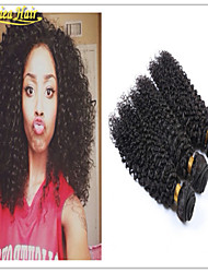 3 Pcs/Lot Afro Kinky Curl Human Hair Weft Cheap Virgin Remy Hair Weaving Extension in stock Shipping Free