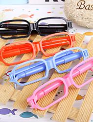 gafas 2 bolígrafos novedad juguetes de los niños regalo de la oficina de la escuela de papelería lindo de la historieta (2pcs color al