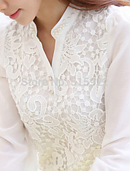 Women's Leisure long sleeve lace T-shirt
