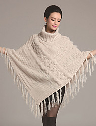 Faux Fur/Sweater/Orlon - Mantels & Poncho's ( Bruin/Gray/Amandel