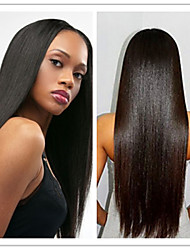 Top Quality Cheap 100% Virgin Brazilian Silky Straight Human Hair Glueless Lace Front Wigs For Black Women In Stock