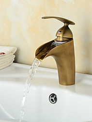 Fashionable Antique Waterfall Bathroom Sink Faucet