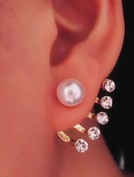 Pendientes colgantes Perla Perla Artificial Brillante La imitación de diamante Legierung Joyas Diario Casual 1 par