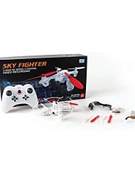 quadrirotor rc drone de 2.4g 4 canaux de l'enregistrement vidéo de ciel combattant avec jouet drone rc 0.3MP caméra rc
