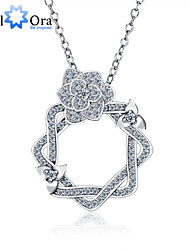 2015 New  Accessories Brand 925 Sterling Silver Women Fashion Cubic Zirconia Necklaces & Pendants