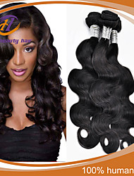 "3 Pcs/Lot 8""-24"" Brazilian Virgin Hair Natural Black Color Body Wave  Unprocessed Human Hair Extensions Hot Sale"