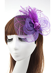 Women's Feather Rose Flower Shape Fascinators (Assorted Color)