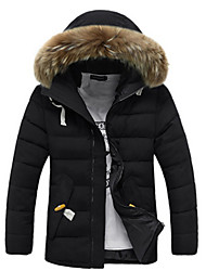 Winter Thermal Thickening Wadded Jacket Men Trend With A Hood Wadded Down Jacket