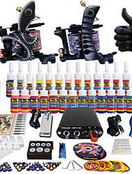 Solong Tattoo Complete Tattoo Kit 2 Pro Machine Guns 28 Inks Power Supply Needle Grips