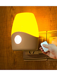 Infrared Remote Control Version Optically Controlled LED ABS Texture Night Light Night lamp 0.5W 110-220V