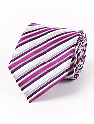 Purple & Rose Red Striped Silk Tie 8.5cm(3.3in)