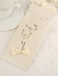 Personnalisé Format Enveloppe & Poche Invitations de mariage Cartes d'invitation-50 Pièce/Set Papier nacre