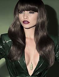 Capless High Quality Pretty Medium Straight Dark Brown Hair Wig
