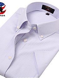 U&Shark Casual&Dress Men's Fine Cotton Wrinkle-Resistant Short Sleeve Shirt  /DYF-019