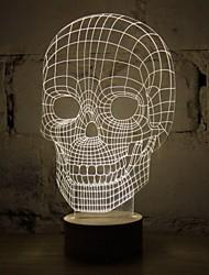 3d Schädel Cartoon Modell wiederaufladbare Stimmung Atmosphäre LED Dekoration Tischlampe kühle warme weiße Geschenk-Nachtlicht