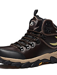 Men's Hiking Shoes Leather Black / Tan