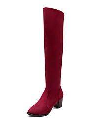 Women's Shoes Chunky  Heel Round Toe Above The Knee  Boots More Colors available