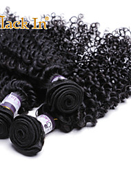 Indian Virgin Remy Kinky Curly Human Hair Weave 100% Real Unprocessed 3Pcs Hair Extension