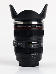 Новый Fahion 24-105mm 1: 1 EF весело жизни особый подарок объектив камеры бутылки с водой термос чашка кофе Чашку