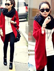 Perfect Women's Solid Color Red Sweaters , Sexy / Casual / Work Cape Long Sleeve