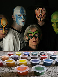 Face Paints Magic Pregnant Halloween Body painting Face Deco for Party(20 Colors a set with Tools)